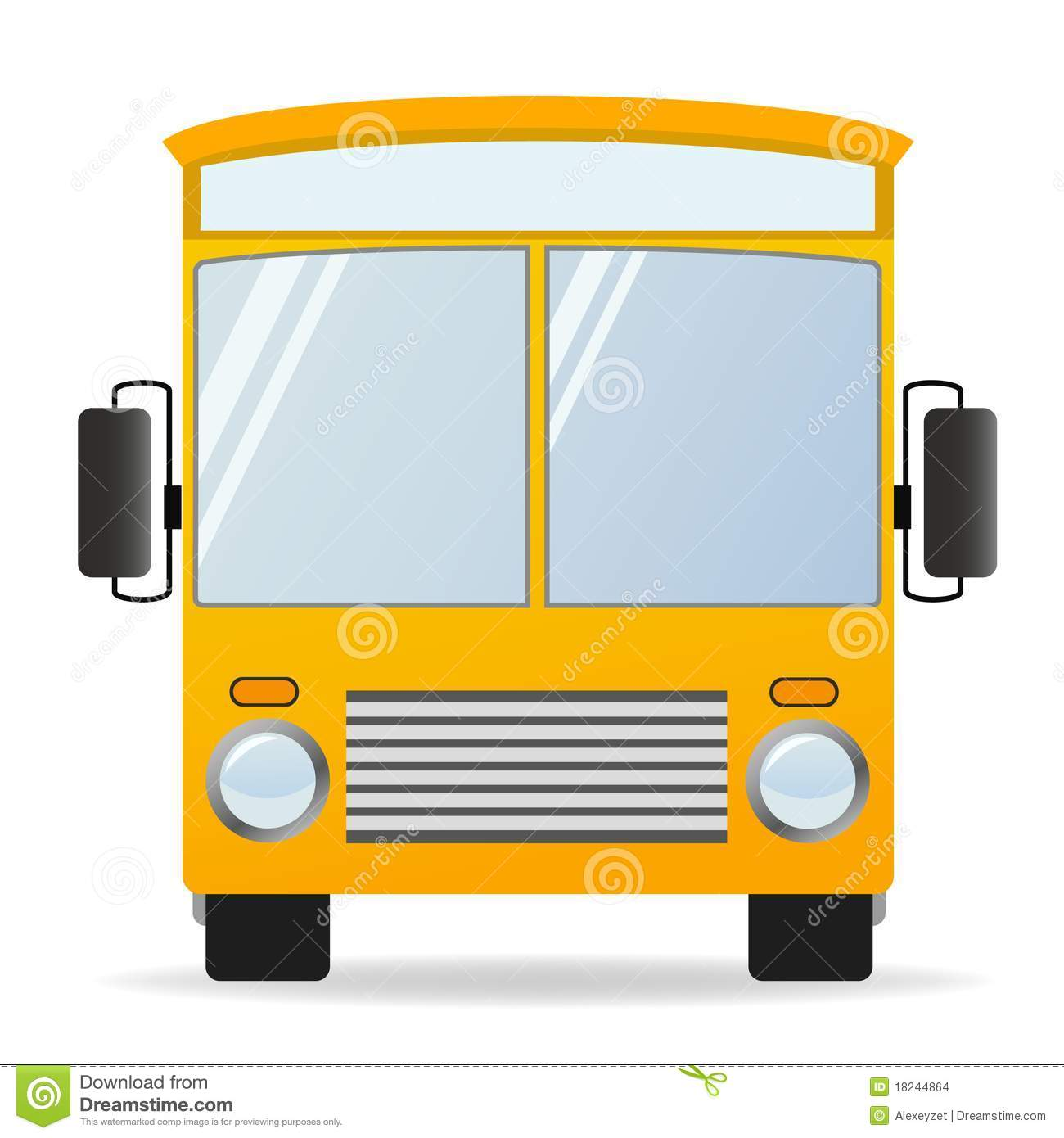 cartoon yellow bus in front view stock vector illustration of rh dreamstime com school bus front clipart school bus front clipart