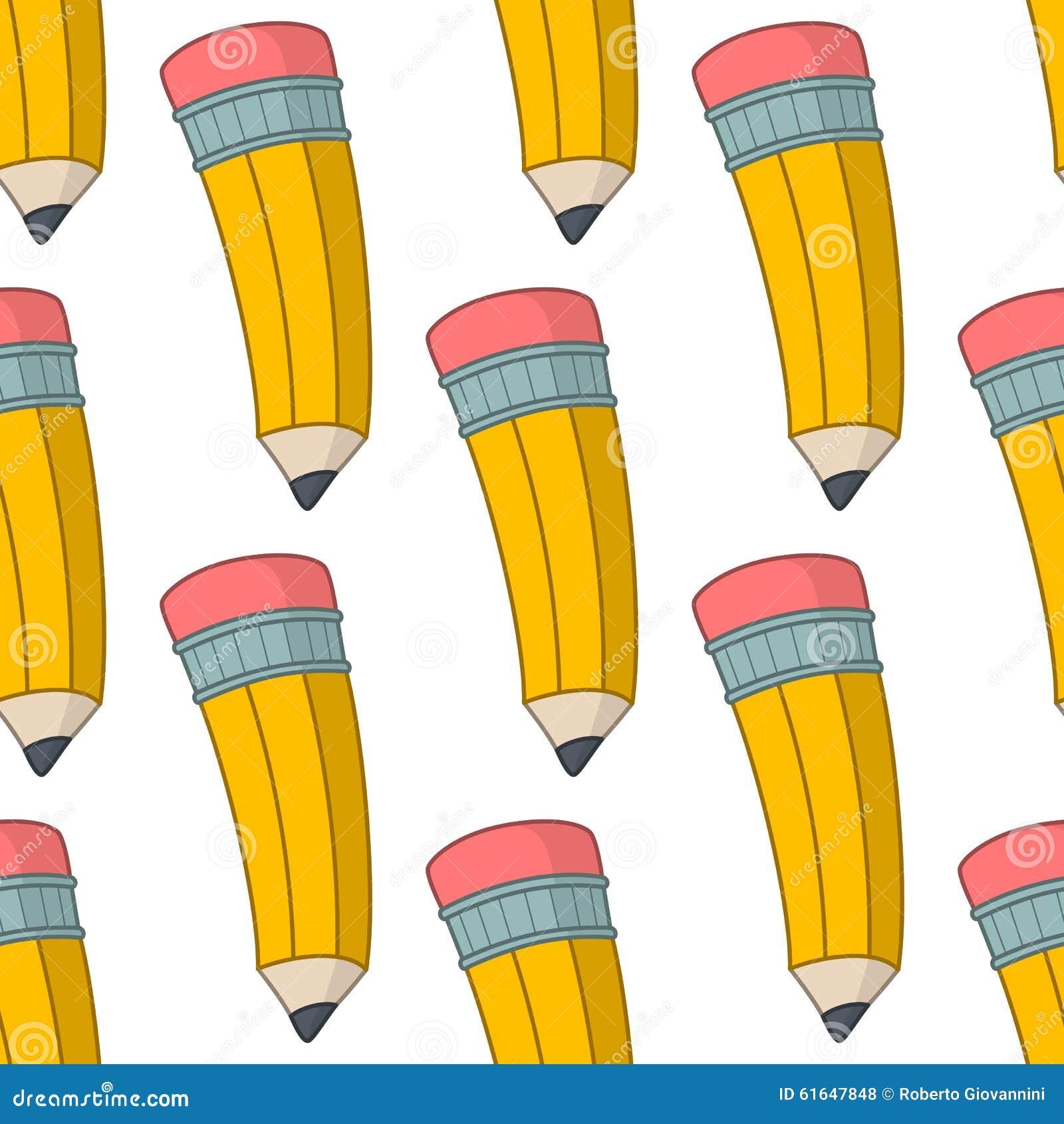 cartoon yellow pencil seamless pattern stock vector illustration of pattern yellow 61647848