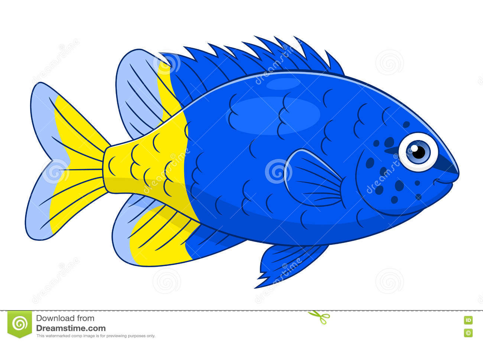 Download Cartoon Yellowtail Damselfish Stock Vector