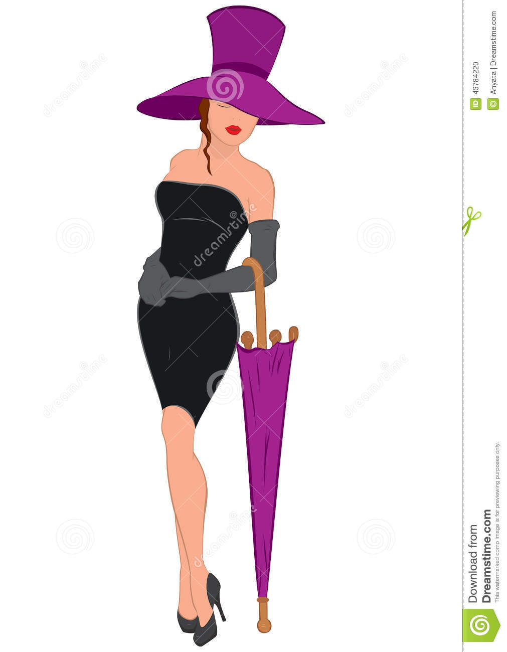 Black dress cartoon - Cartoon