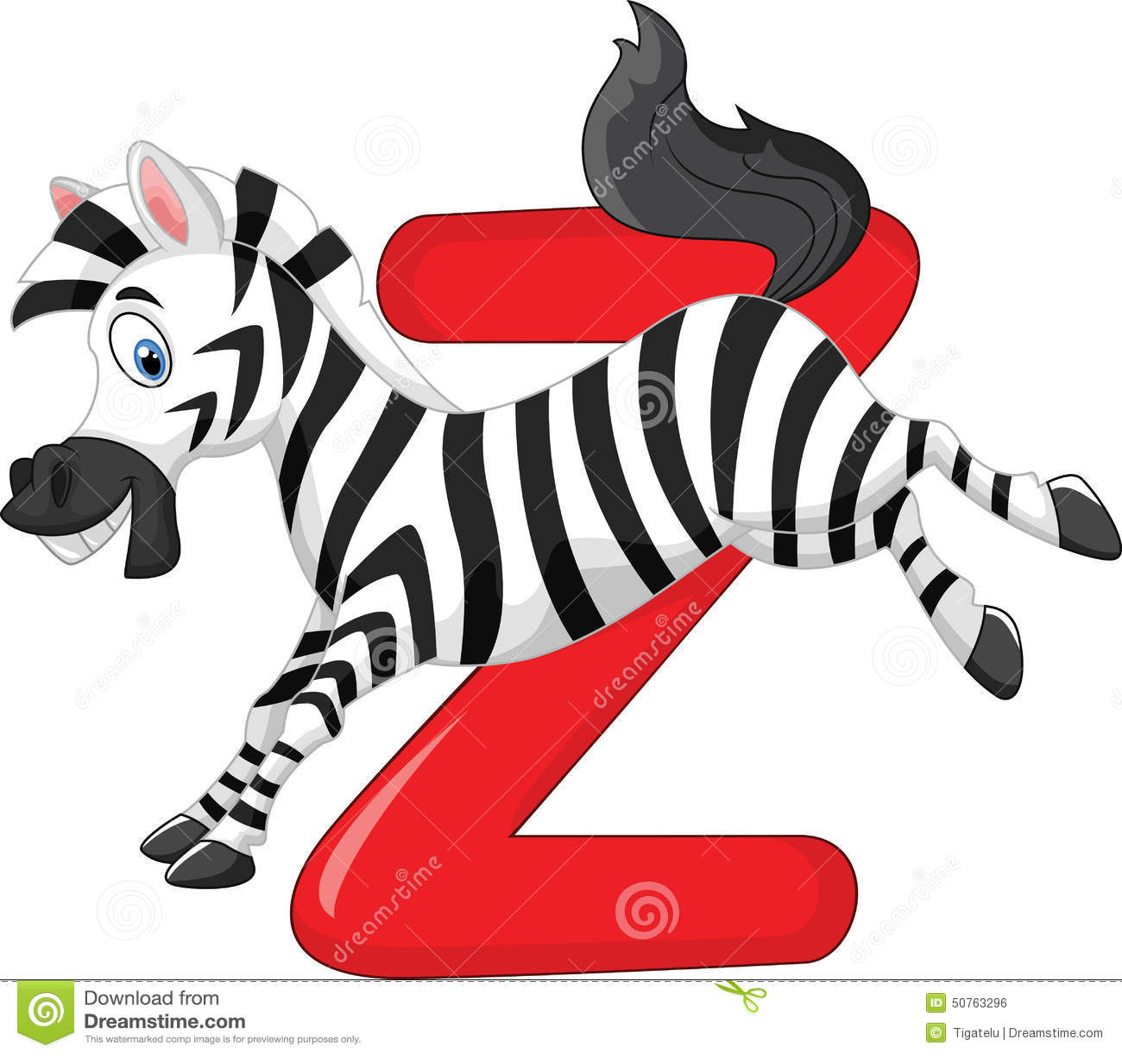 Cartoon Characters Letter Z : Cartoon zebra with alphabet z stock vector image