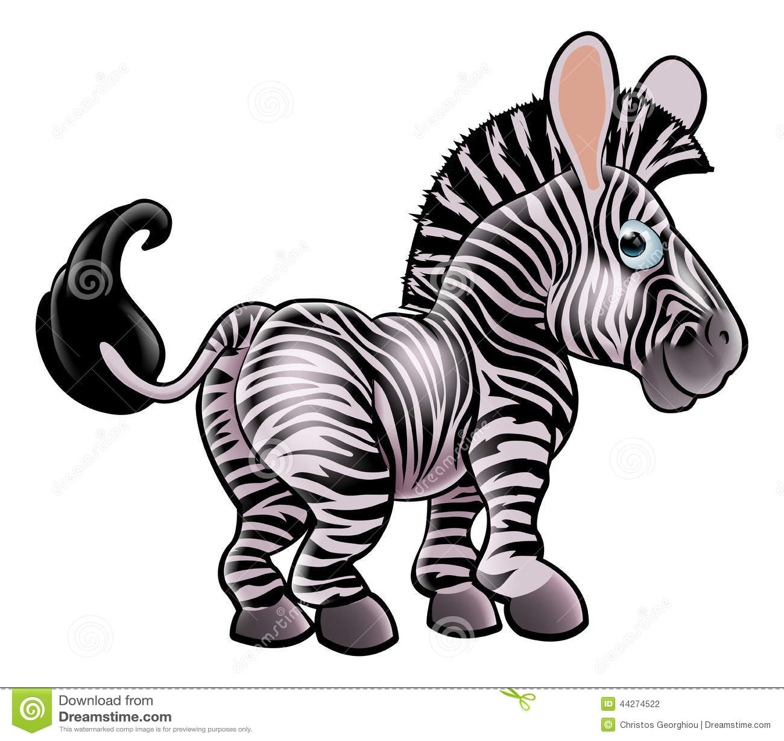 Cartoon Characters Zebra : Cartoon zebra stock vector image