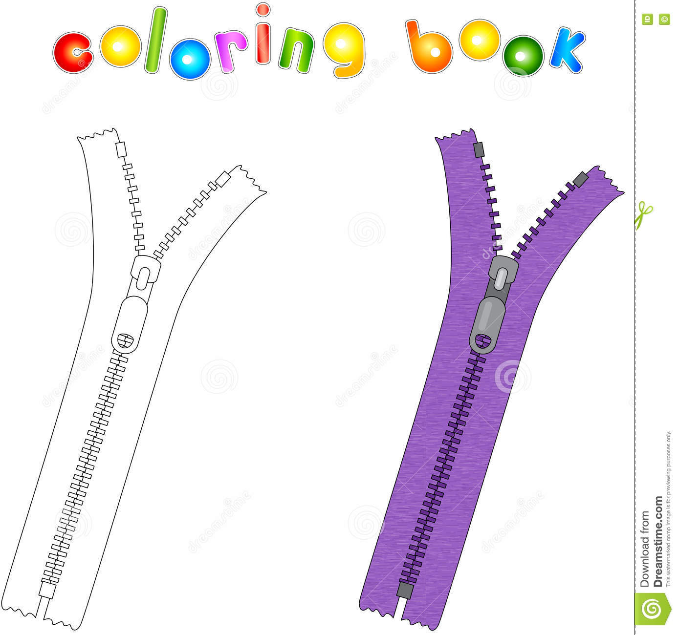 Cartoon zipper pictures to pin on pinterest thepinsta for Zipper coloring page