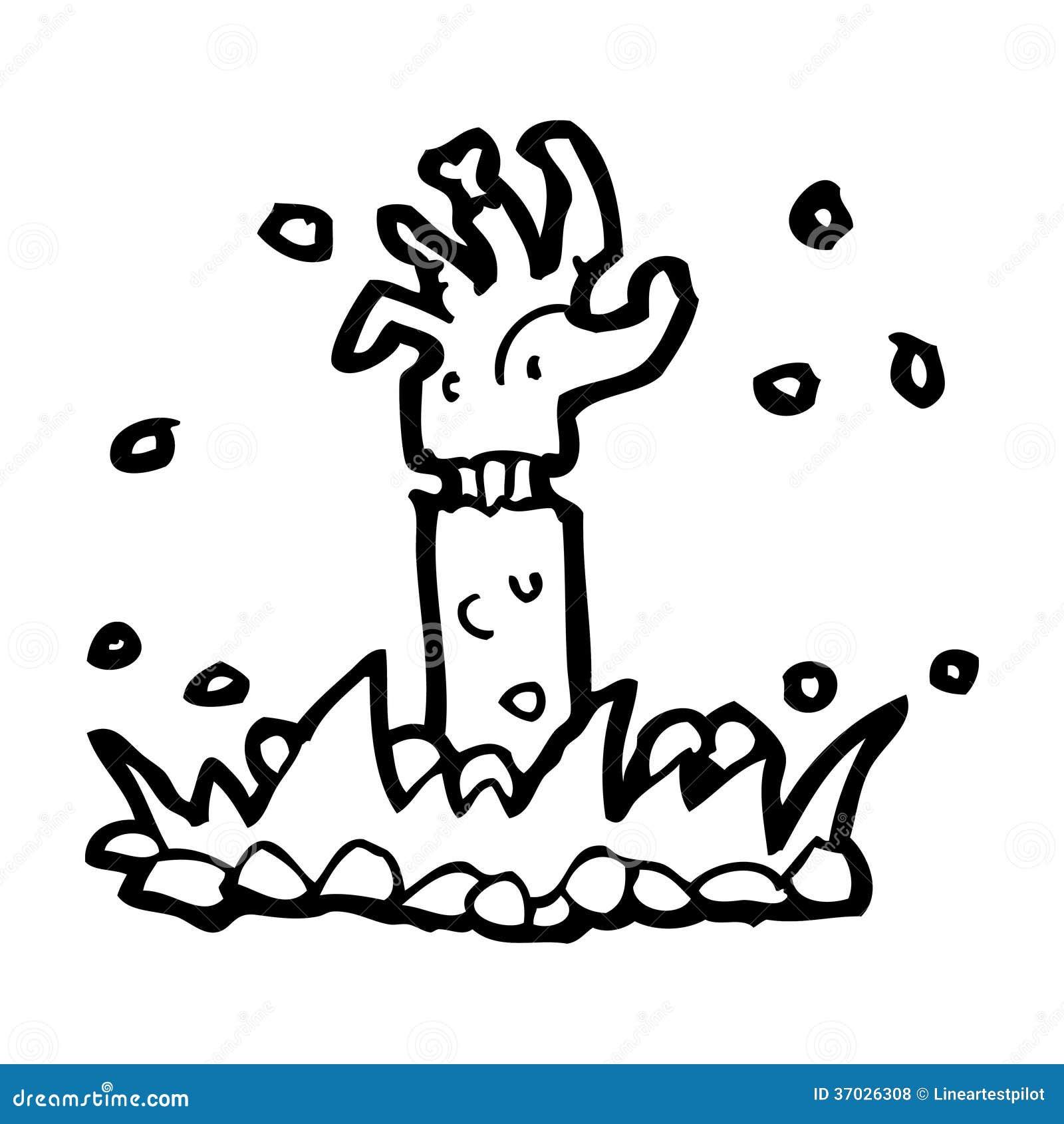 Cartoon Zombie Arm Stock Illustration Illustration Of Illustration