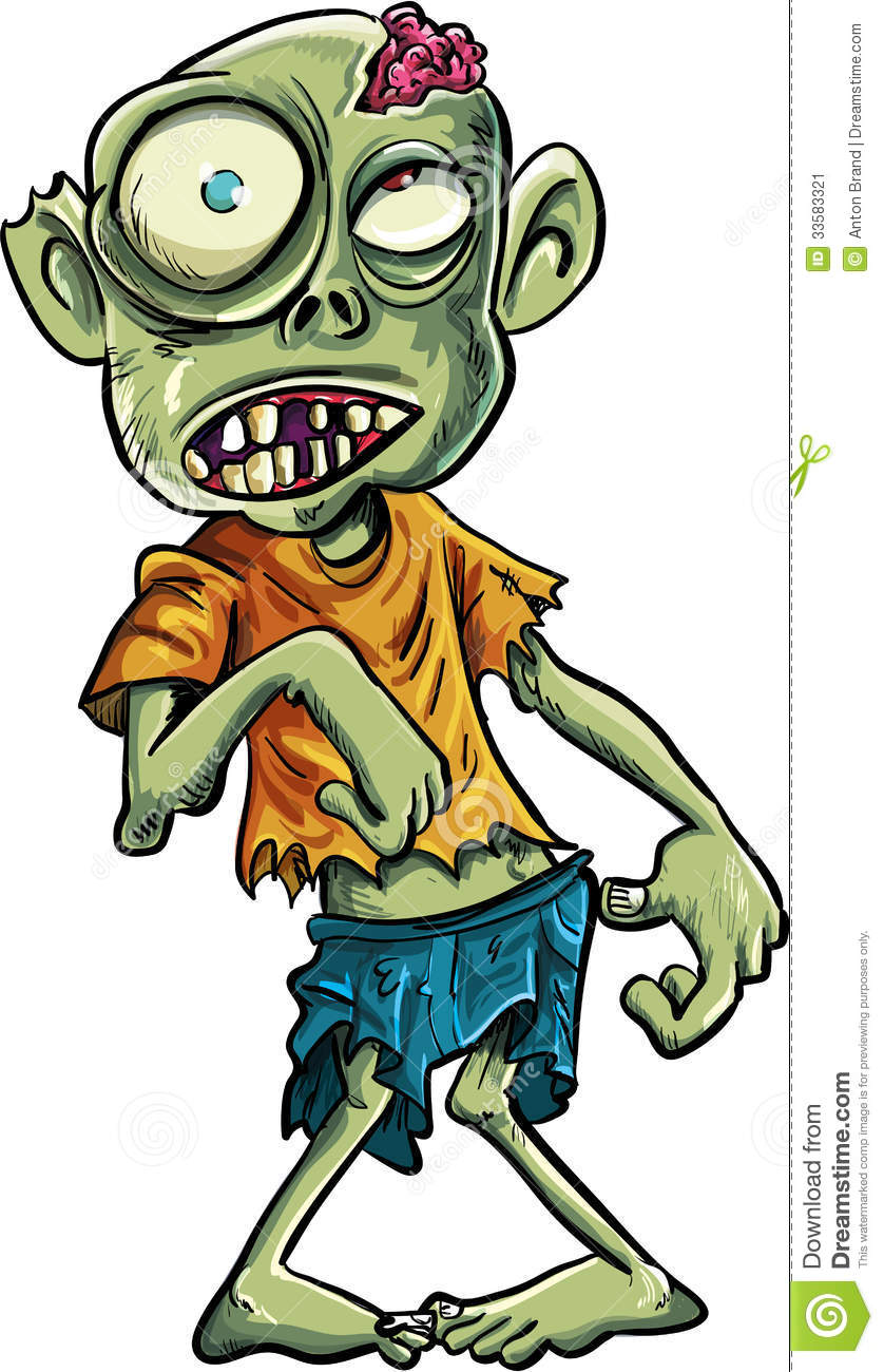 Cartoon Zombie With A Big Eyes Stock Vector - Illustration ...