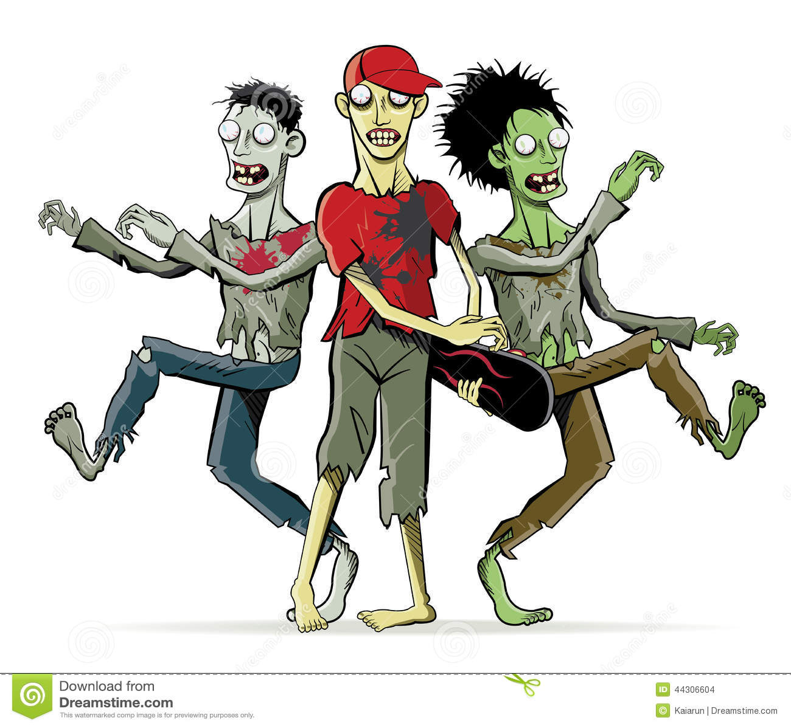 Cartoon Zombie Characters Stock Vector - Image: 44306604