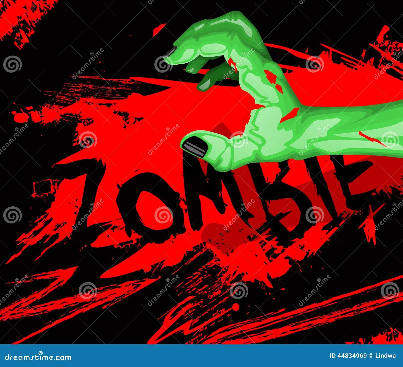 Cartoon of a zombie hand