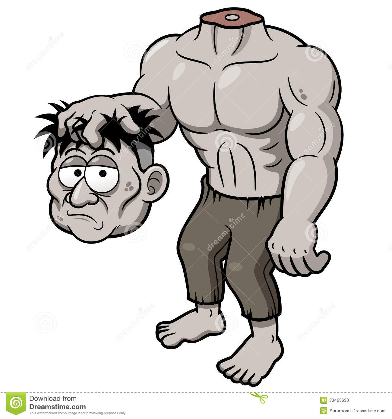 cartoon zombie headless stock photo image 30463630 Scary Halloween Clip Art Cool Zombie Clip Art