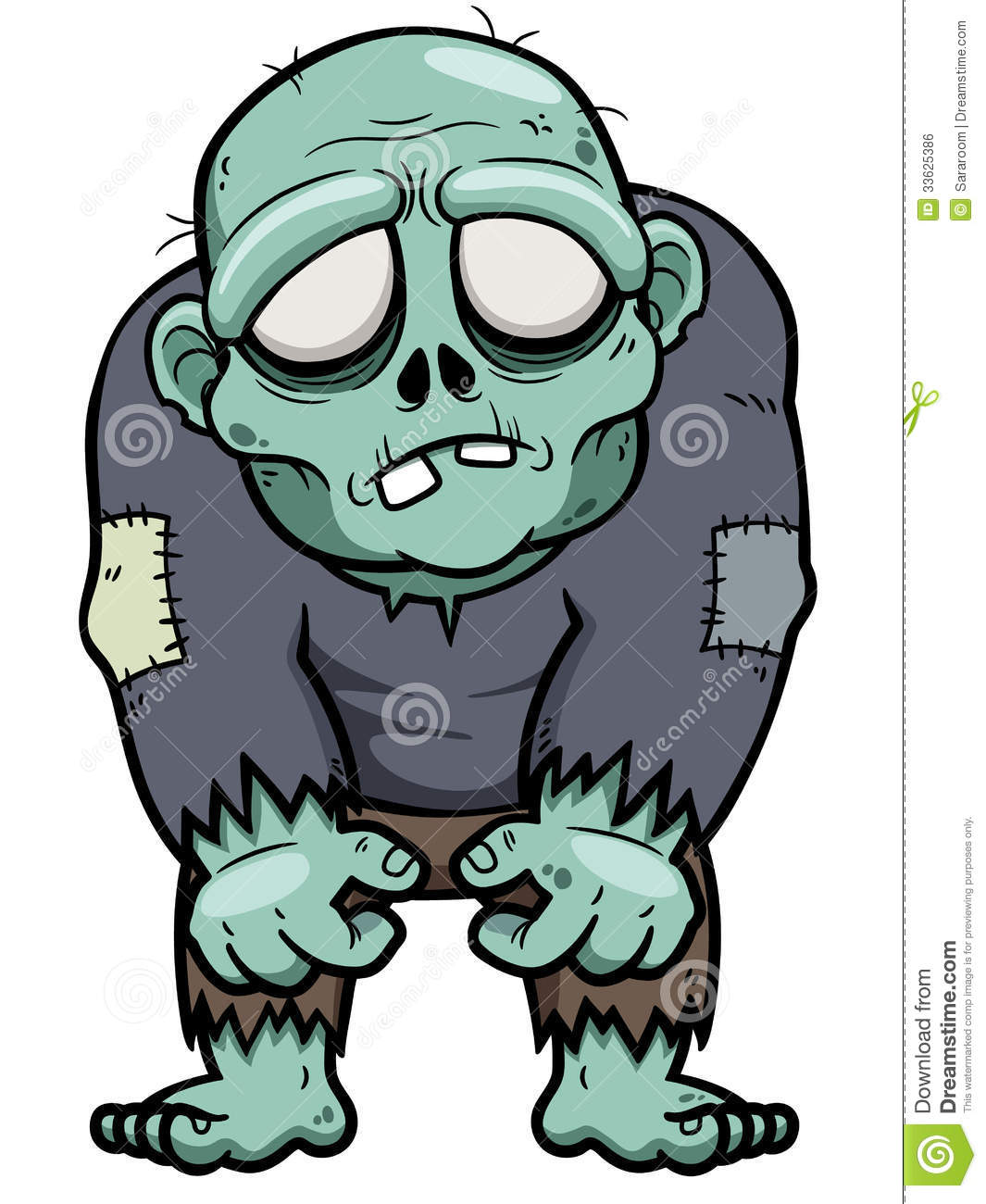 Cartoon zombie stock vector. Illustration of adult ...