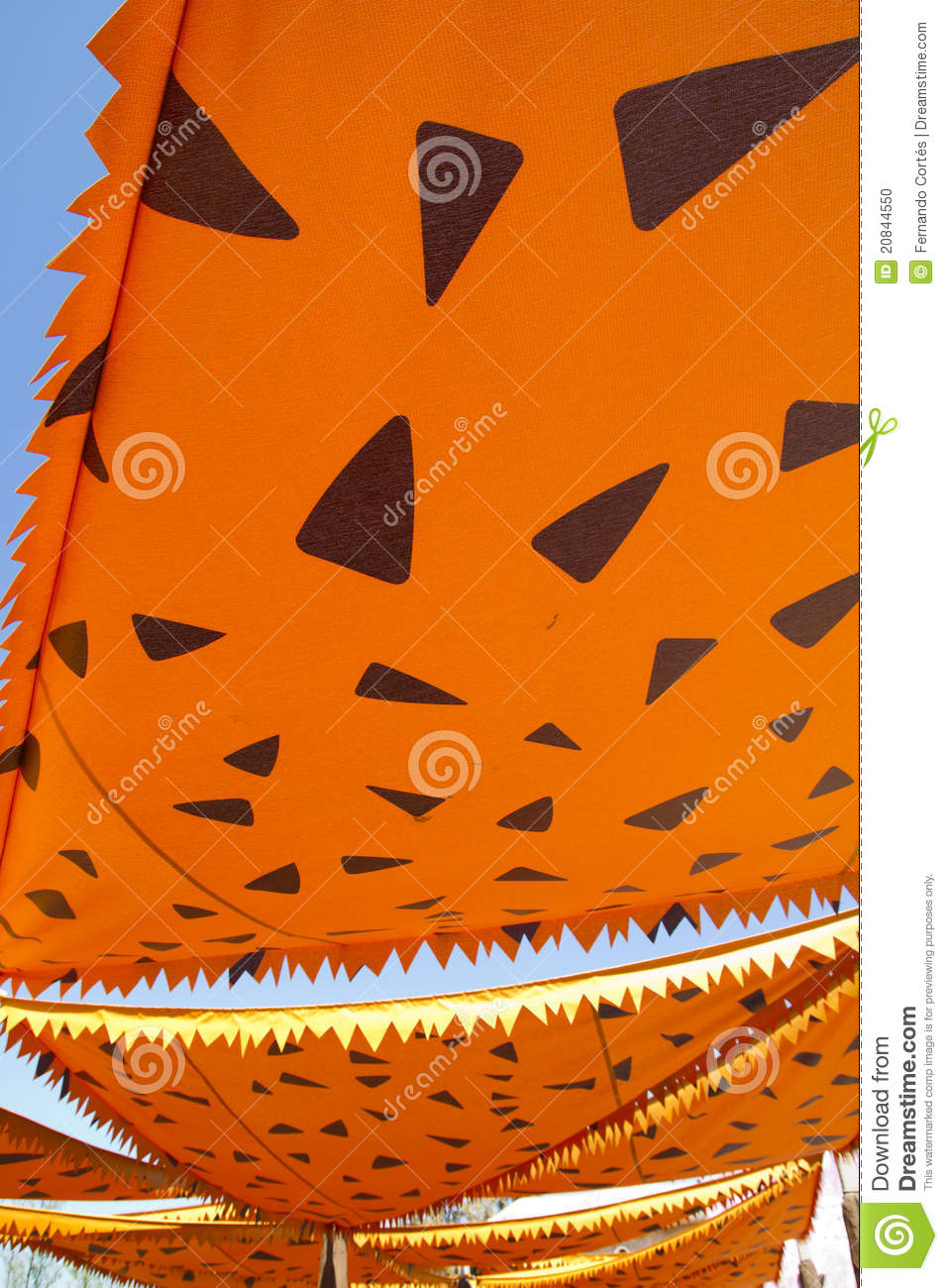 Cartoonish Orange Awning Sunshade Decoration Download Preview