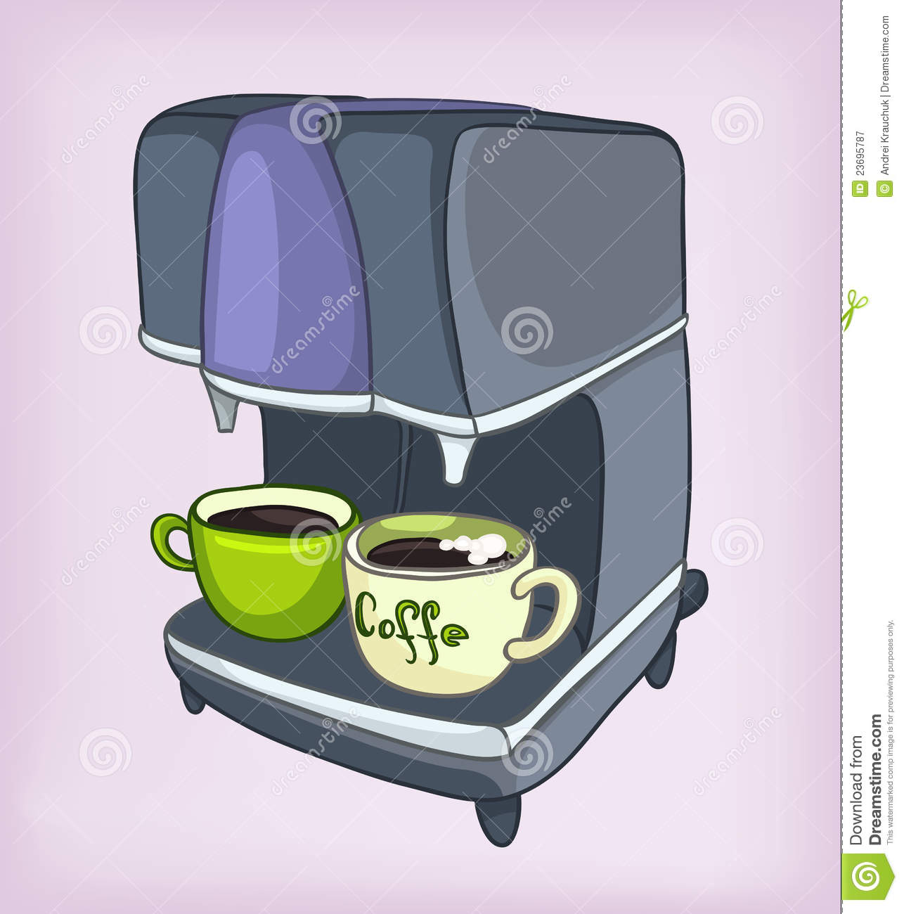 Cartoons Home Appliences Coffee Maker Royalty Free Stock Photography - Image: 23695787