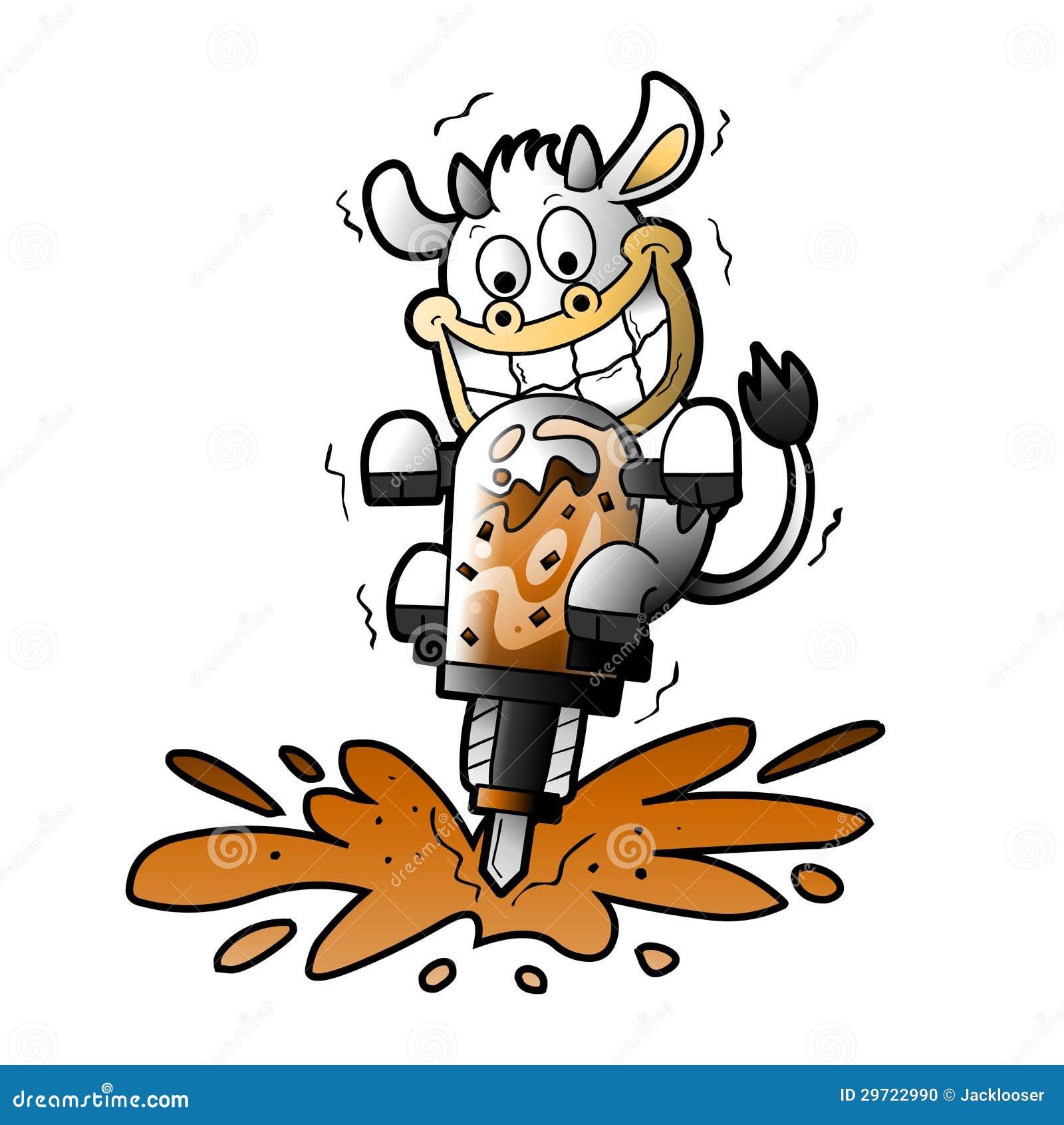 cow making chocolate milkshake stock vector illustration of shake