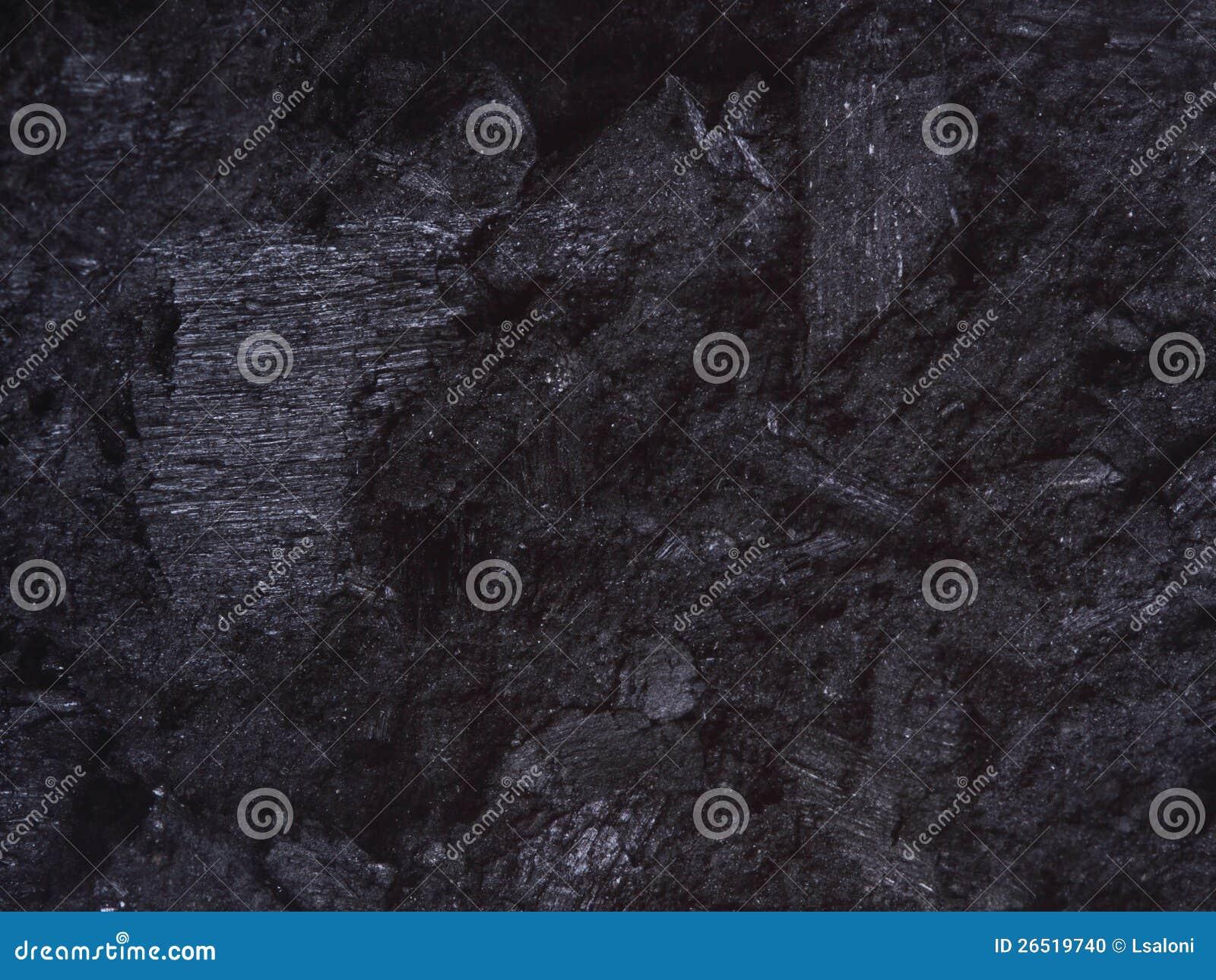 Carvão, preto da textura do fundo das pepitas do carbono