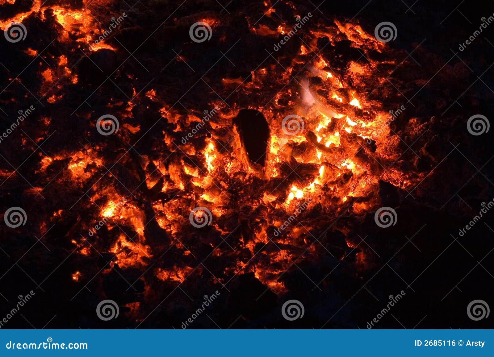 Carvão vegetal ardente