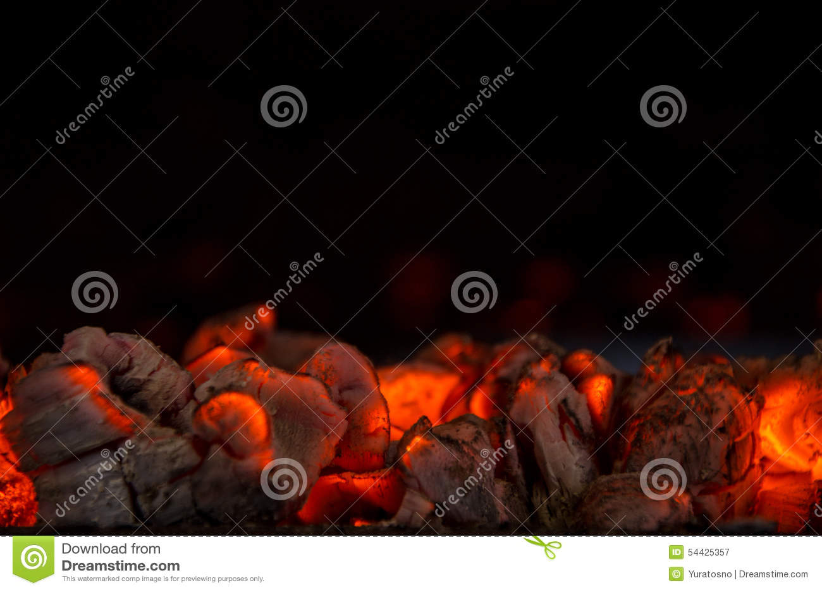 Carvões quentes