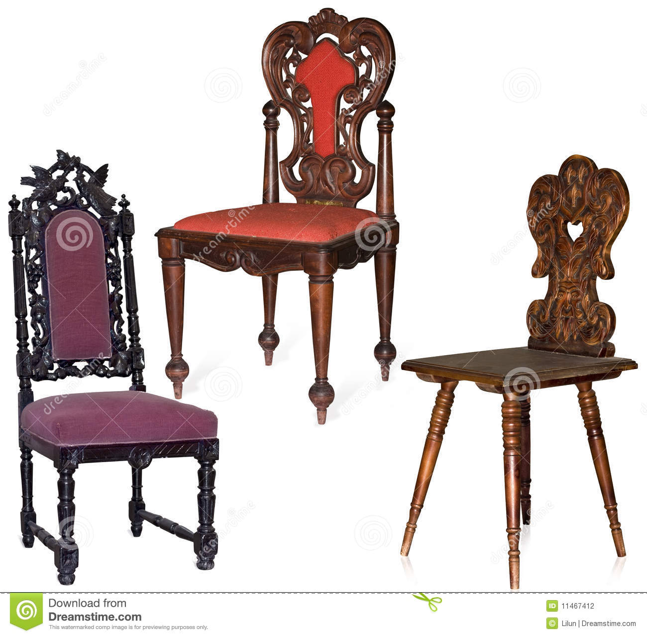 Carved Chairs Stock Photography Image 11467412