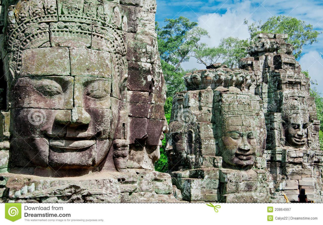 Carved Faces of Angkor
