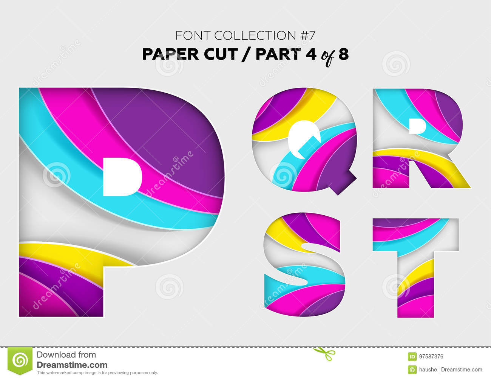Origami 3d Cyrillic Font. Creative Colorful Alphabet. Paper Cut ... | 1022x1300