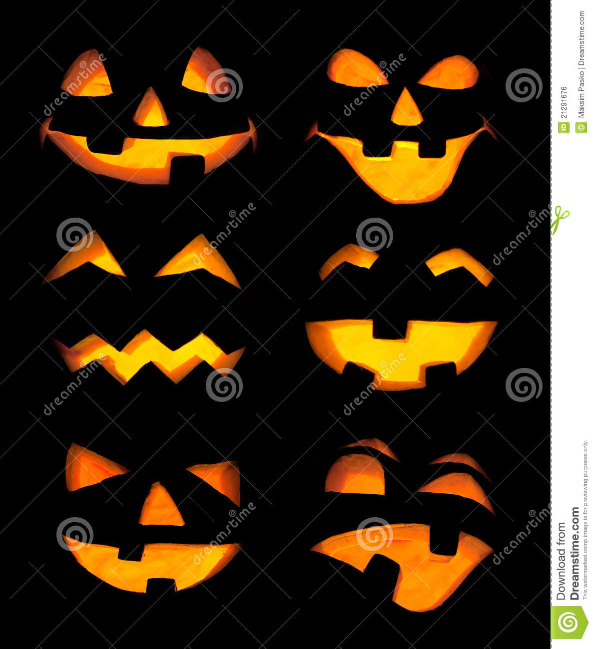 Carved Pumpkin Faces Royalty Free Stock Image - Image ...