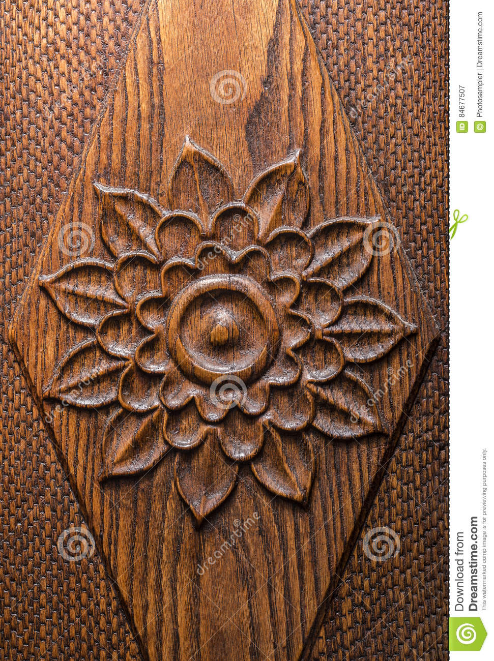 Carved rose detail on a wood stock image image of carve pattern
