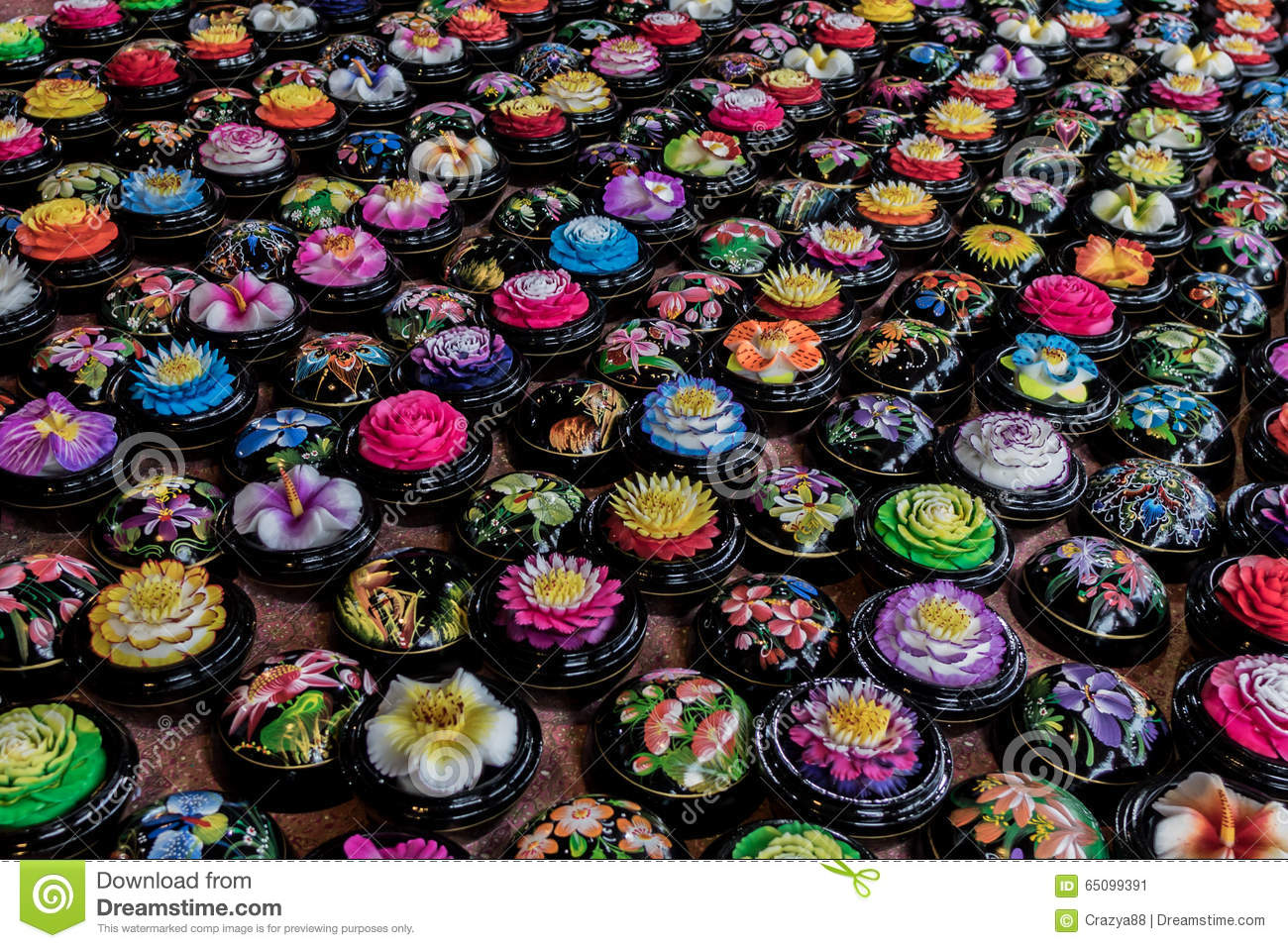 Carved soap flower balls thailand stock photo image