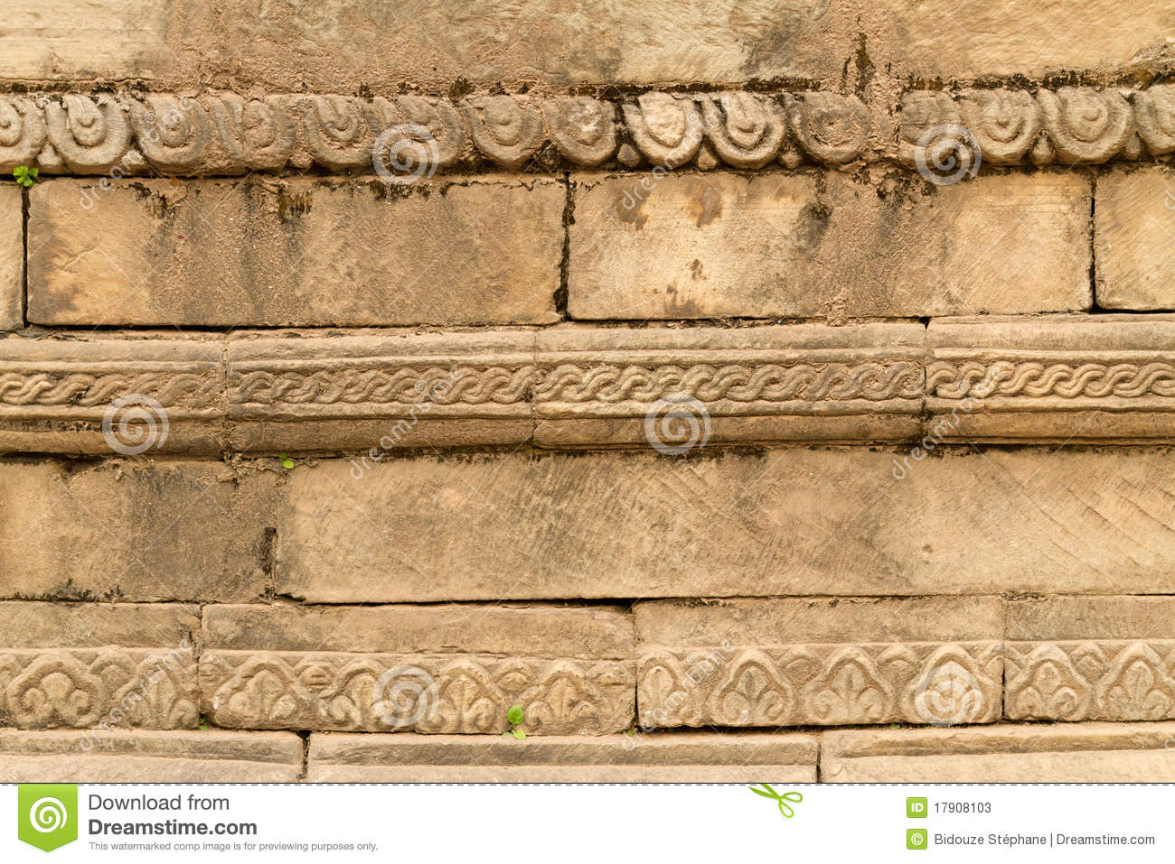 Carved temple wall stock photos image