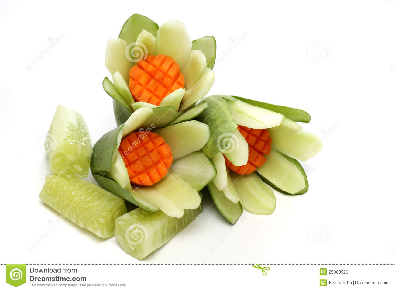 Carved Vegetables The Art Royalty Free Stock Image Image 25008526