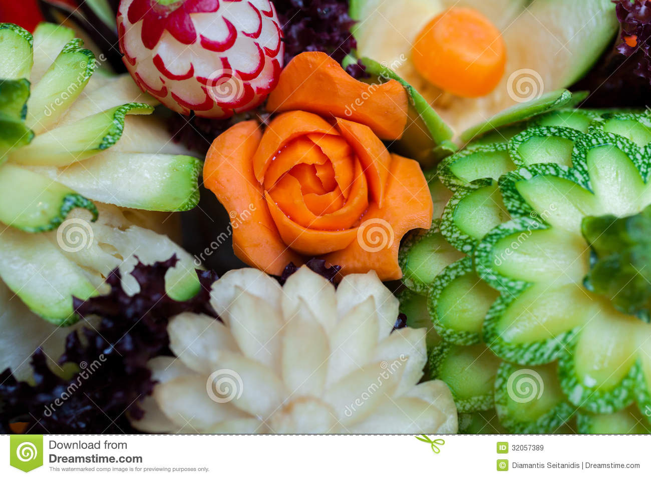 Carved vegetables royalty free stock images image