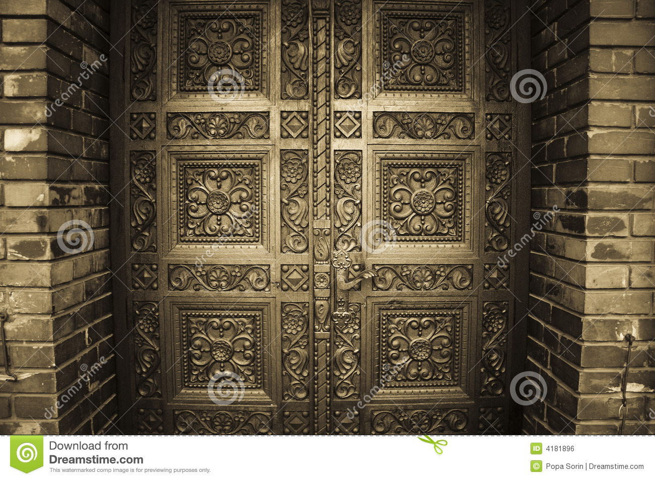 Carved Wooden Doors Stock Photo Image Of Eastern Church