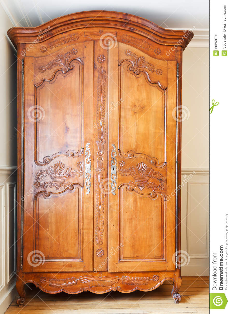 Old retro wardrobe stock image image 30268791 - Relooker armoire ancienne ...