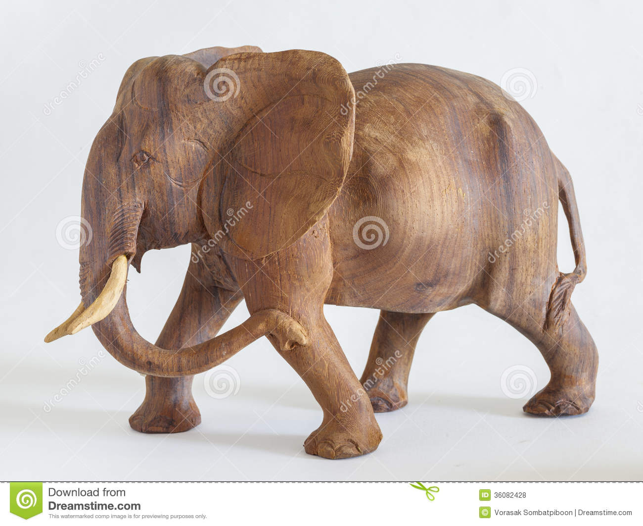 Carved Wooden Elephant Royalty Free Stock Photos - Image: 36082428