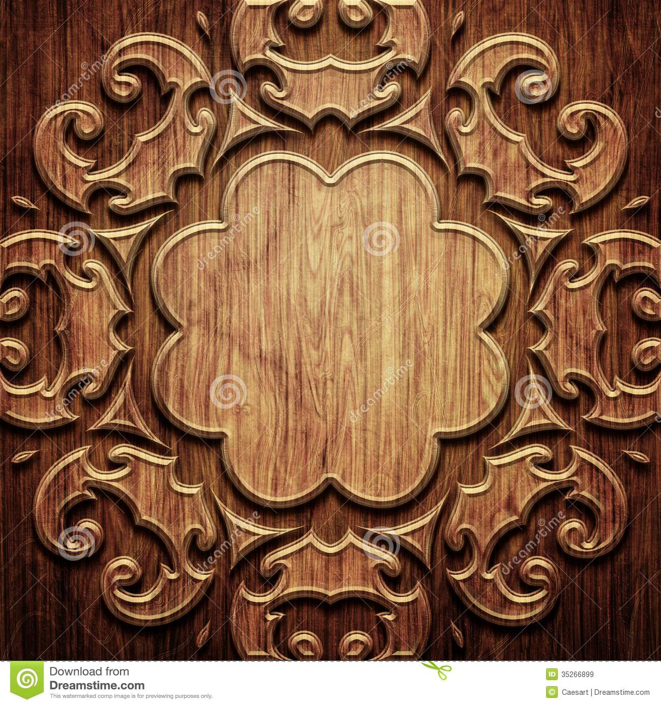 Carved Wooden Pattern Royalty Free Stock Images Image