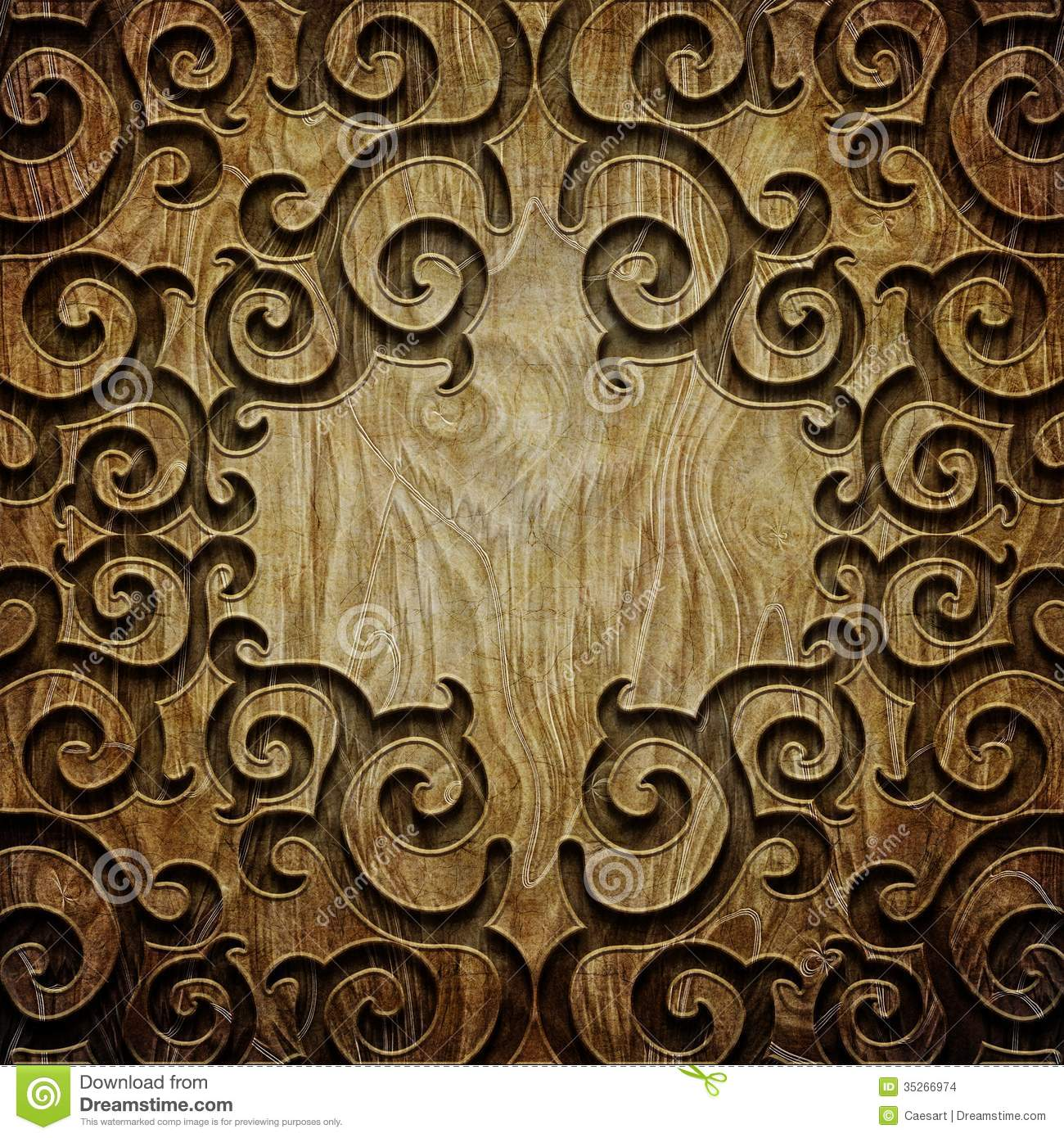 Carved Wood Texture