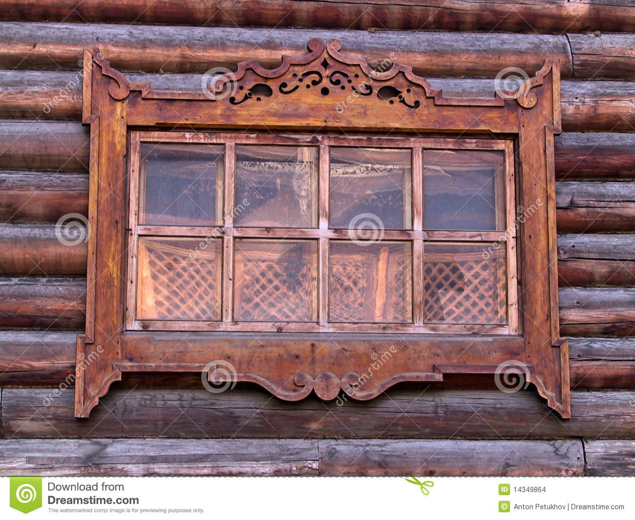 carved wooden window frame stock images
