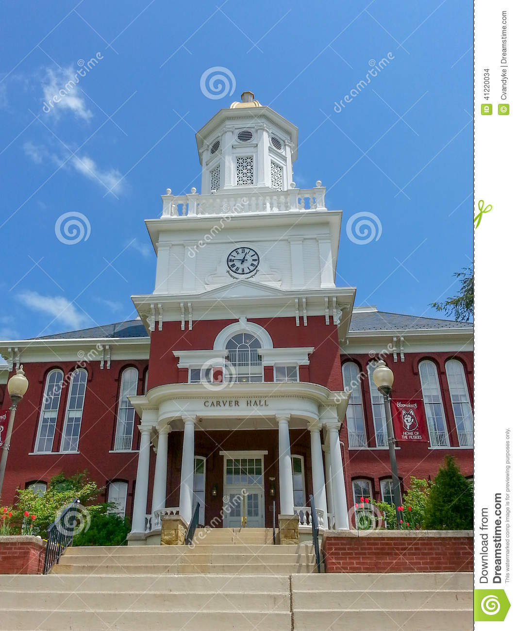 Carver Hall Bloomsburg University Pennsylvania Stock Photo - Image ...