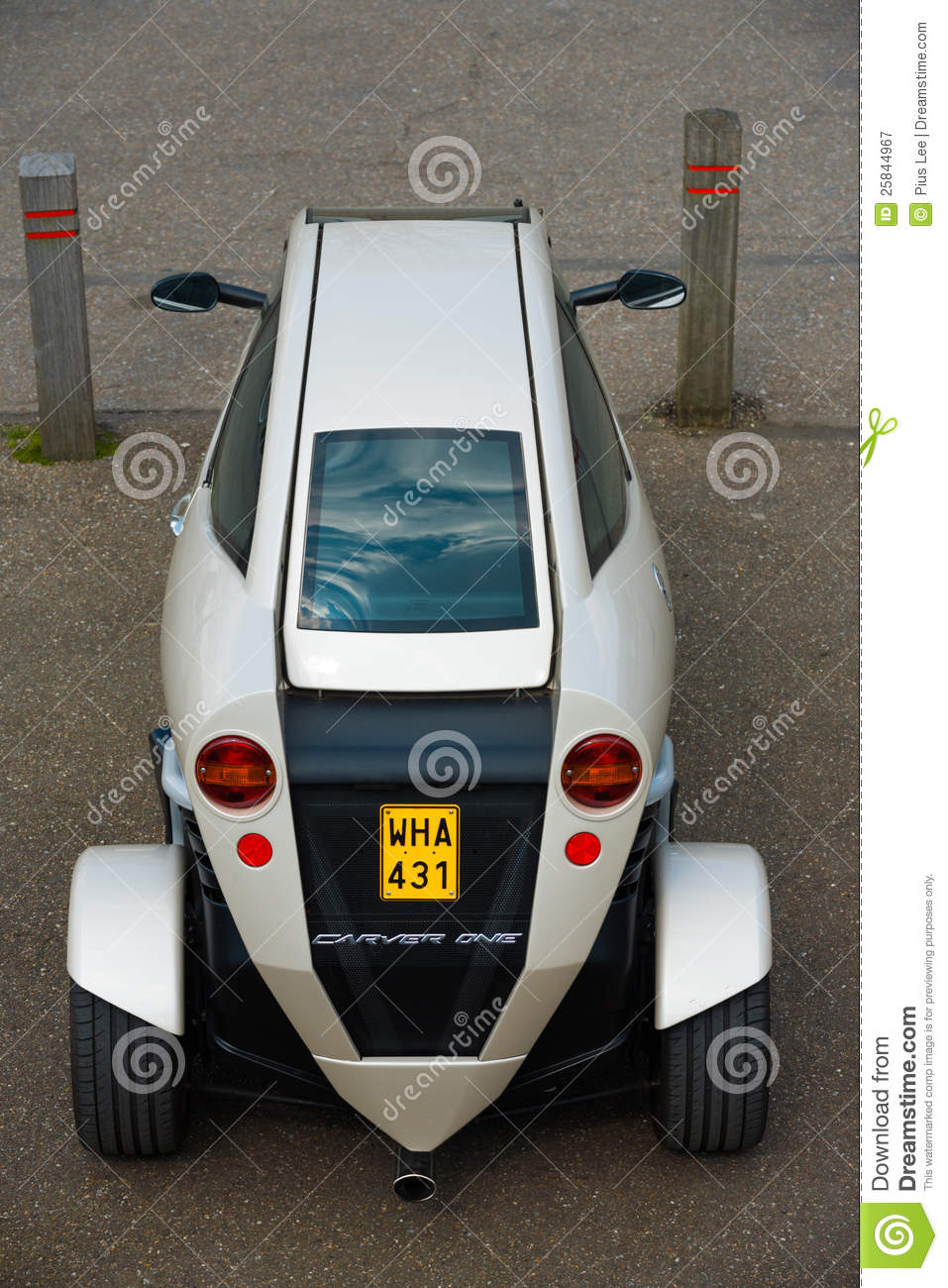 Trade Motorcycle For Car >> Carver One Rear Hybrid Car Motorcycle Editorial Photography