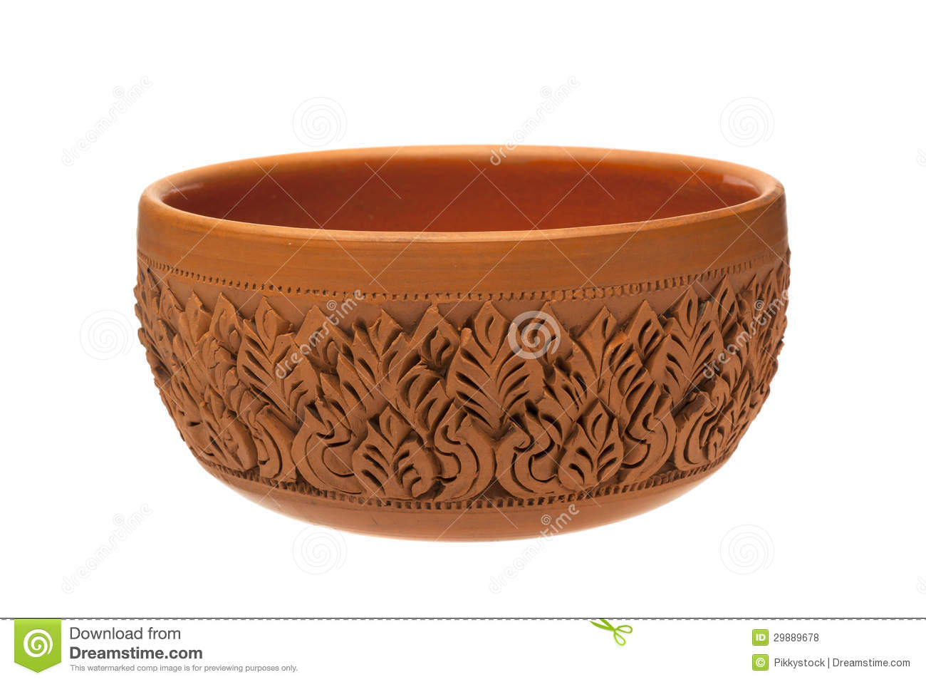Carving pottery stock photo image of carvings shape