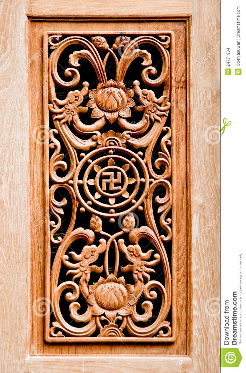The Carving Wood Of Pattern Chinese Stock Images Image