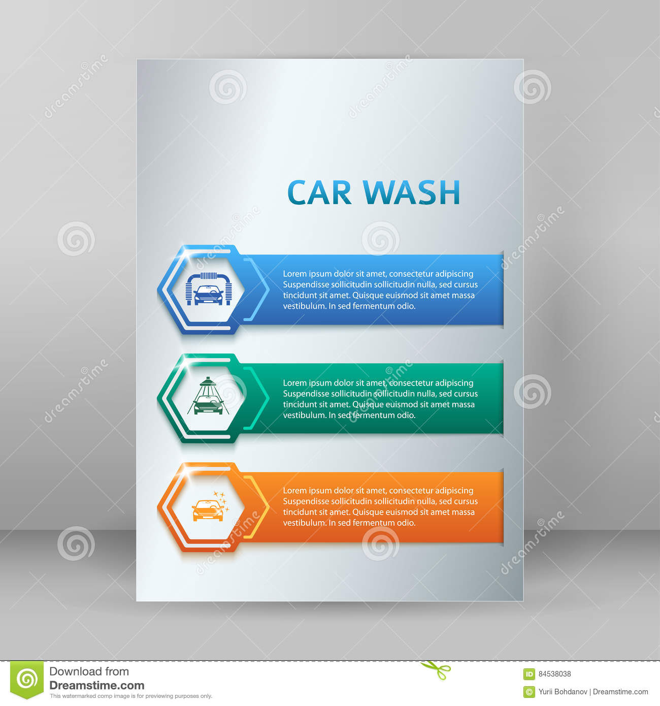 carwash booklet format a4 brochure layout pages stock illustration