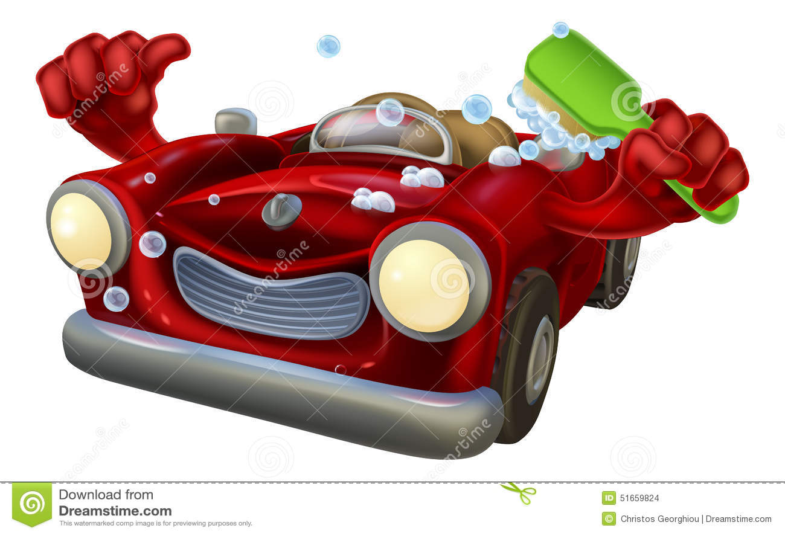 Car Wash Brush >> Carwash Cartoon Stock Vector - Image: 51659824