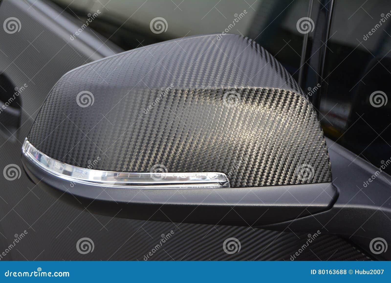 Carwrap del ala del wingmirror del espejo de los espejos del carbono que envuelve el vinilo del abrigo
