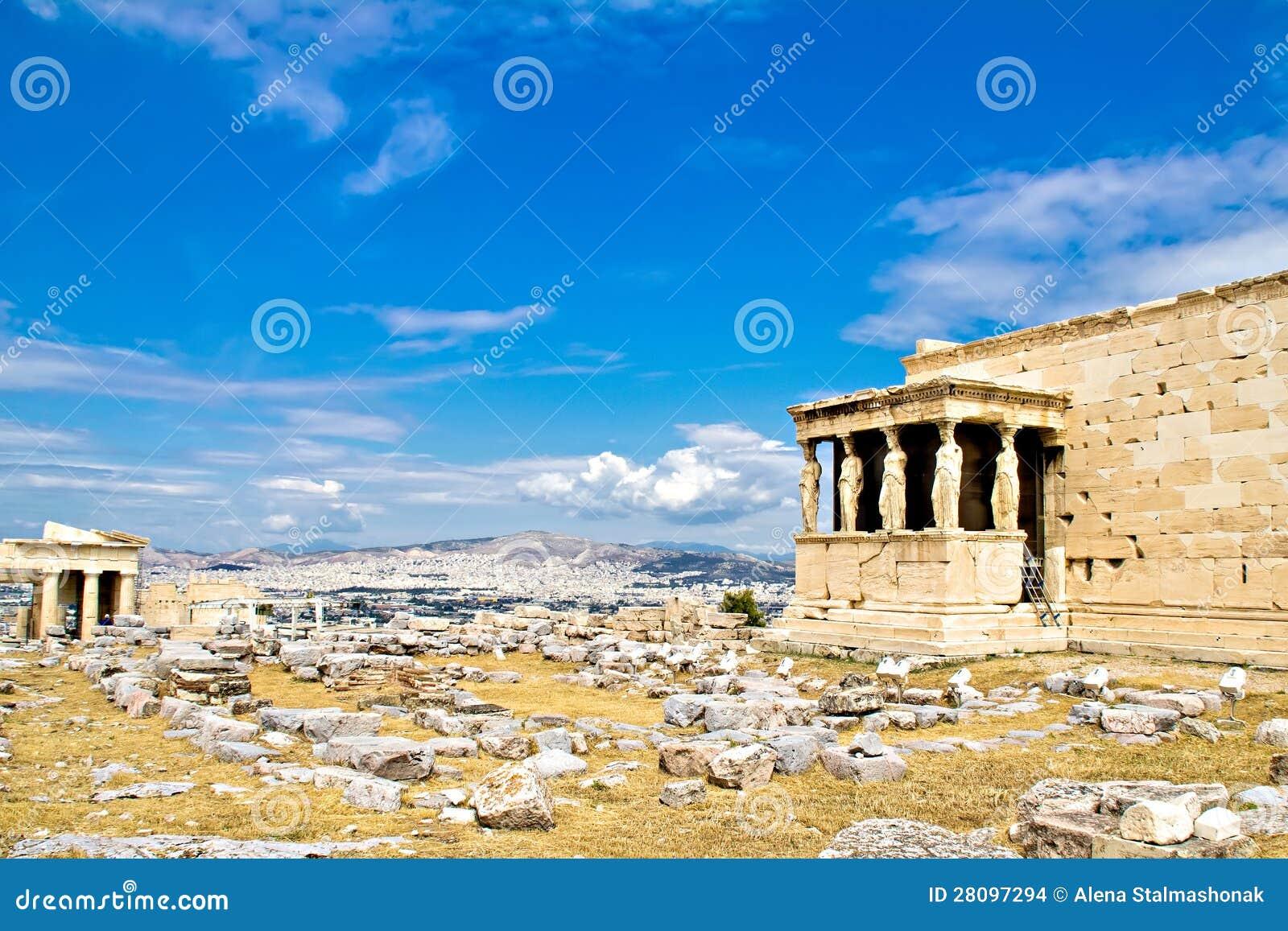 Caryatids Erechtheum, Acropolis, Athens, Greece