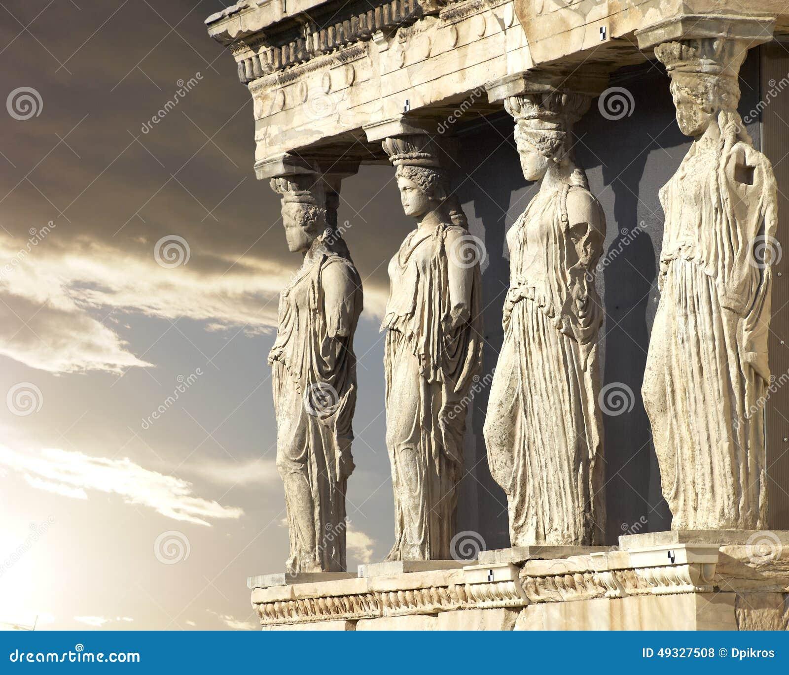 Caryatids, erechtheum temple Athens, Greece