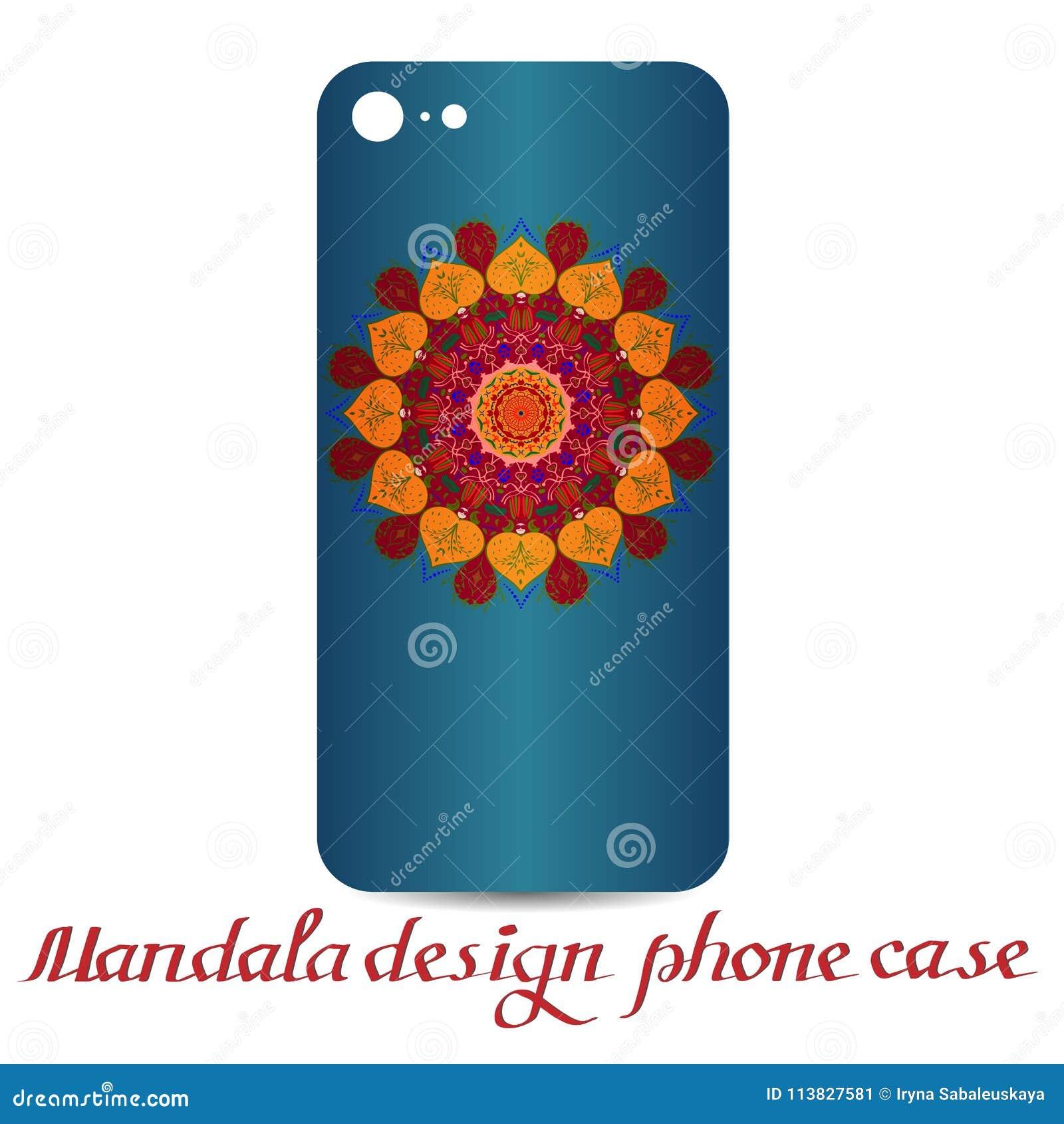 Cas de téléphone de conception de mandala Éléments décoratifs