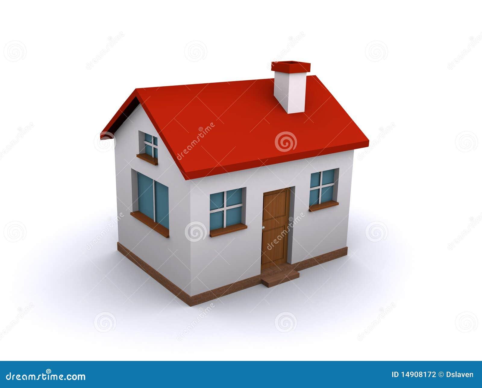 Casa 3d Fotografia De Stock Imagem 14908172
