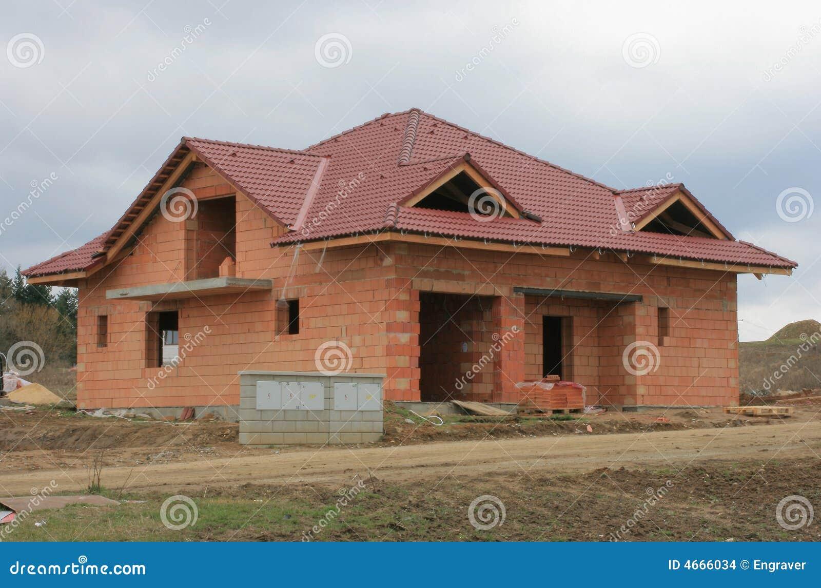 Casa 7 della costruzione fotografia stock immagine di for Costruzione di case a prezzi accessibili