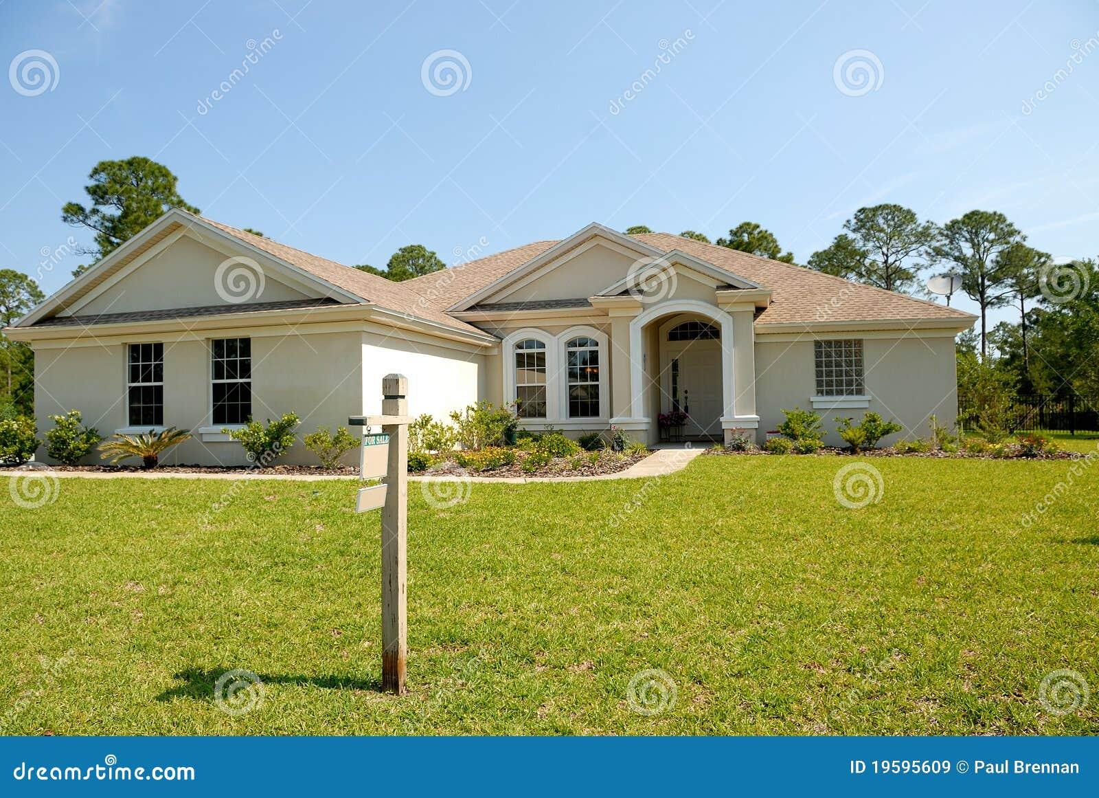 Casa americana da vendere immagine stock immagine di for Casa a piano singolo