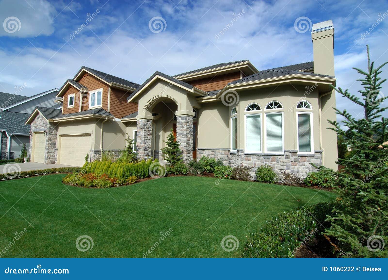 Casa Americana Luxuosa No 6 Fotografia De Stock Imagem