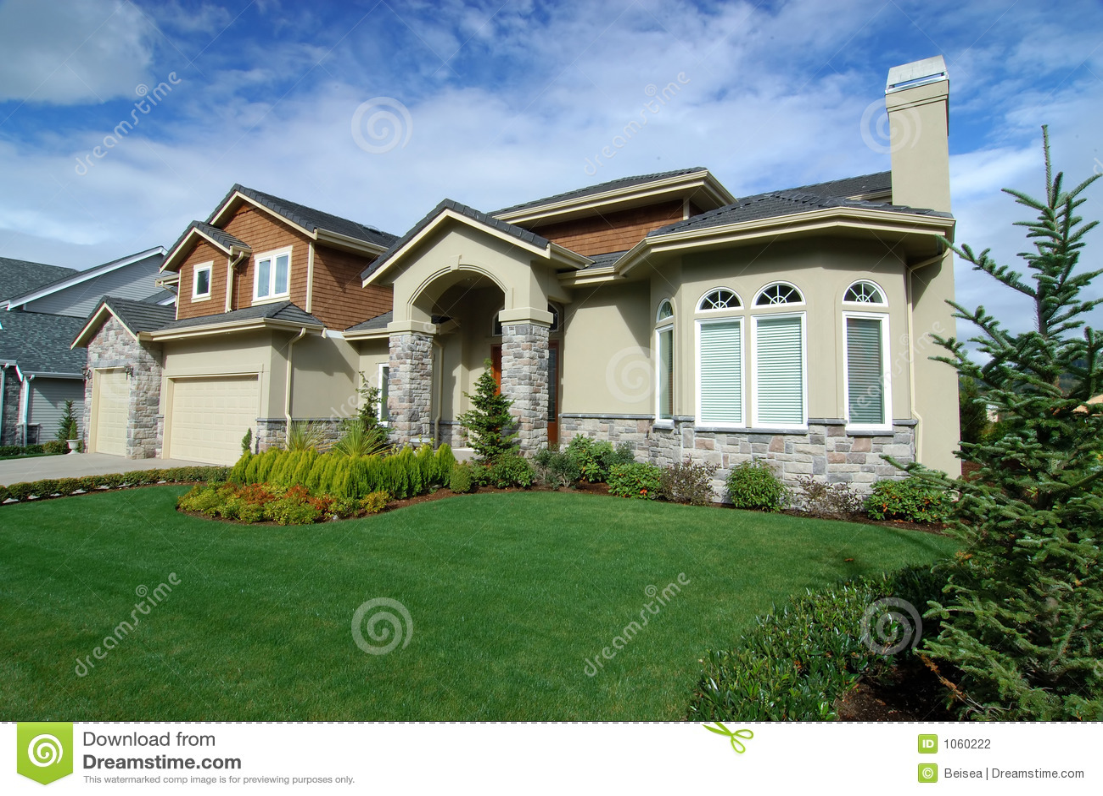 Casa americana luxuosa no 6 fotografia de stock imagem for Piani casa americana