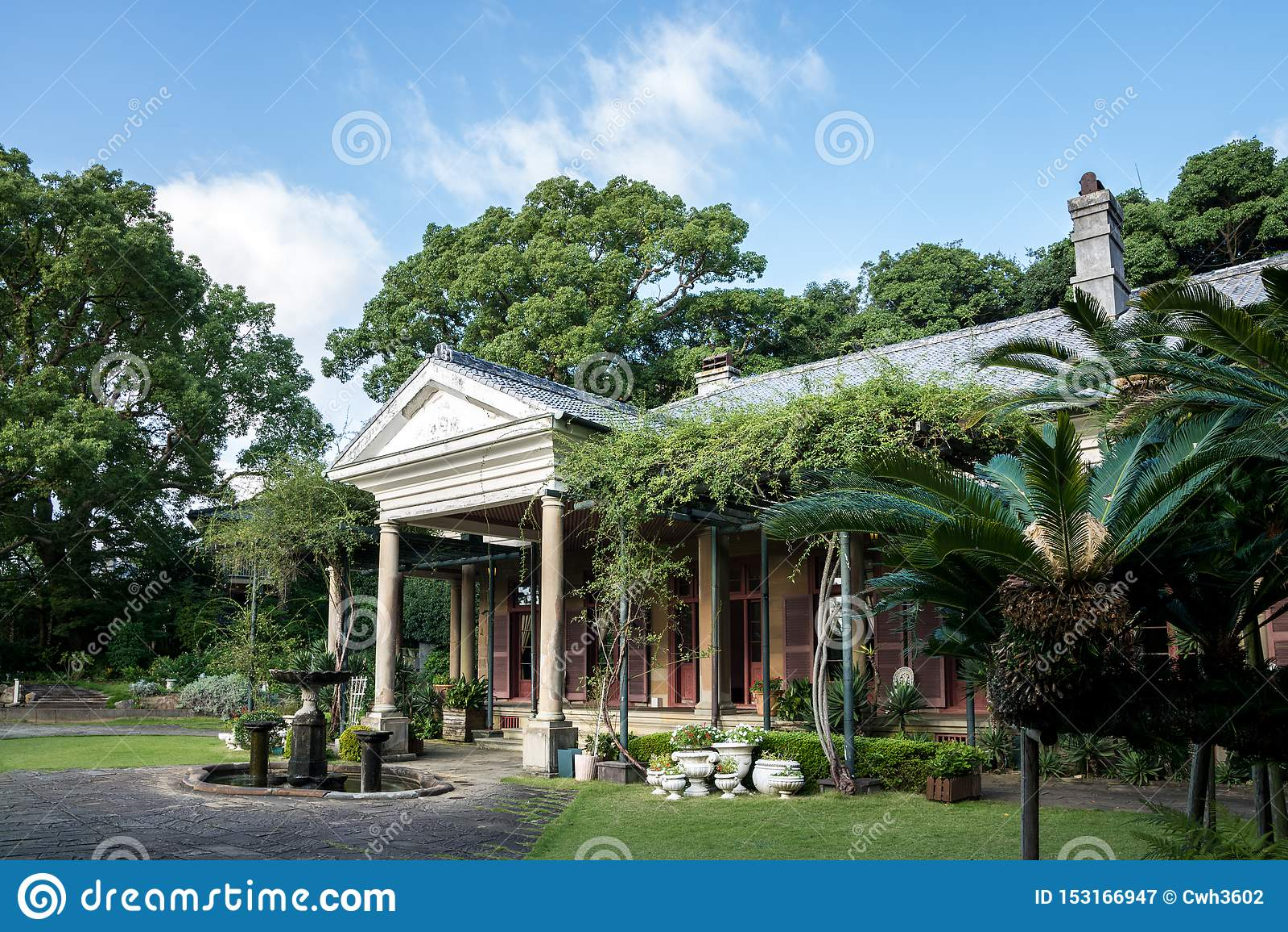 Casa anterior del Alt en Glover Garden, Nagasaki, Kyushu, Japón - la residencia del comerciante William Alt